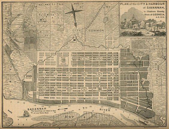 Savannah City Plan, James Oglethorpe, 1733