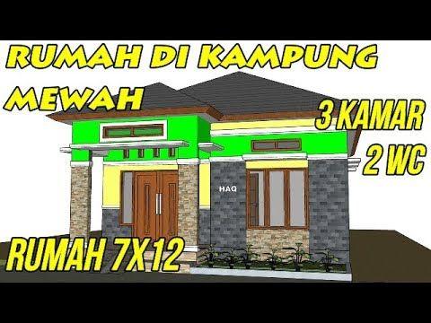Desain Rumah Minimalis Modern 7x12 3 Kamar Tidur 2 WC 1 Lantai Di Kampung | Rumah  Minimalis, Rumah, Desain Rumah