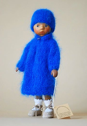 Girl In Blue Angora, Painted Hair VO15E by Elisabeth Pongratz at The Toy Shoppe