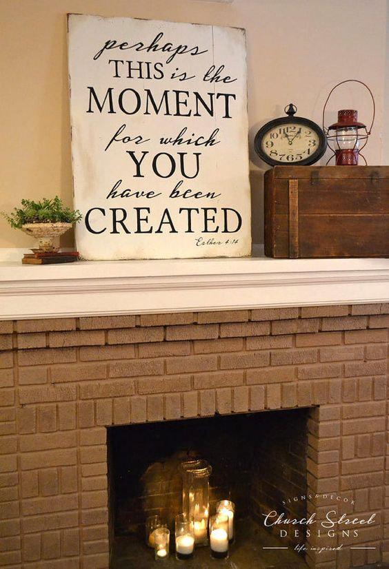 Inspirational Wall Art, Home Decor, Esther 4:14, Large Sign, Perhaps This is The…