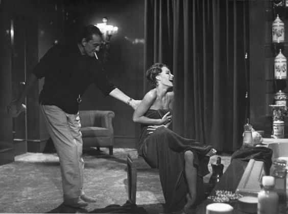 Luchino Visconti and Romy Schneider in Boccaccio '70