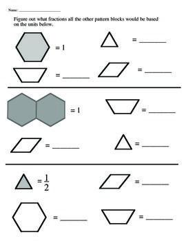 Worksheets Pattern Blocks Worksheet pattern block fraction worksheets blocks worksheet for school pigmu