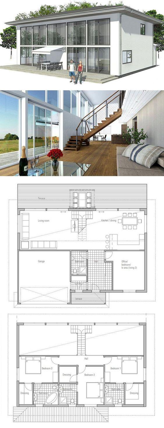 Modern contemporary house with big windows and abundance for Concept home com