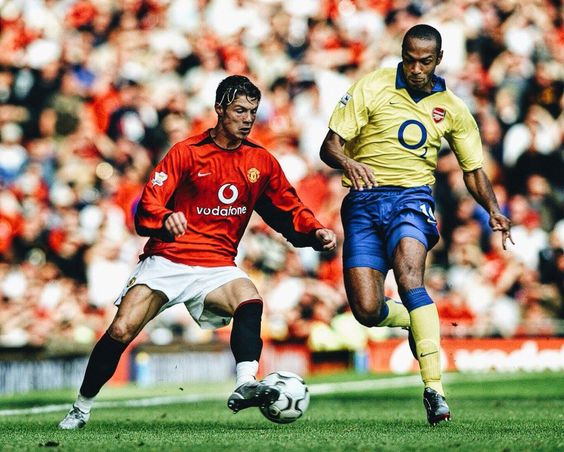 Cristiano Ronaldo (Man. Utd.) & Tierry Henry (Arsenal)