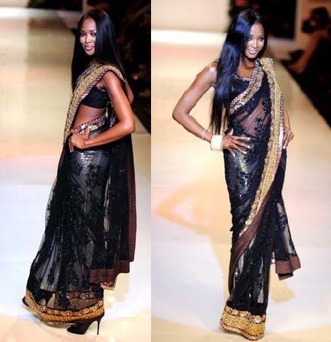 Naomi Campbell Saree