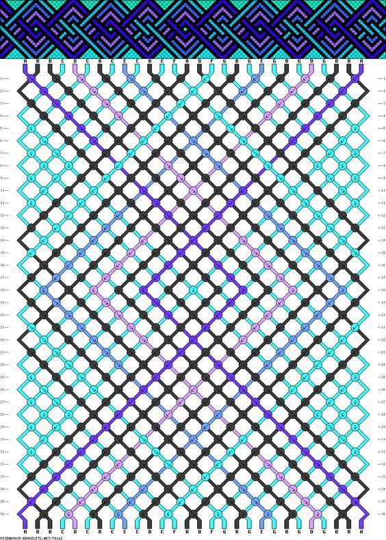 Muster # 79112, Streicher: 28 Zeilen: 36 Farben: 7
