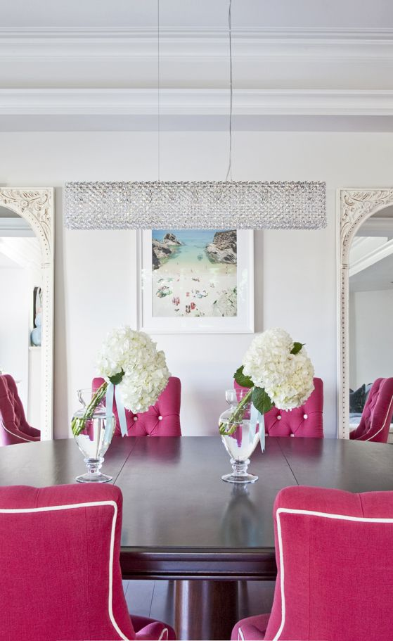 Hot Pink Dining Chairs In The Dining Room. Home Decor And Interior  Decorating Ideas.