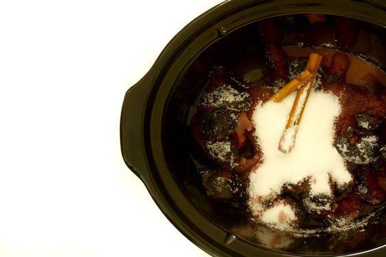 Mermelada de ciruelas con canela #crockpot #crockpotting #slowcooker #slowcooking #recetas  #mermelada #ciruelas #frutas