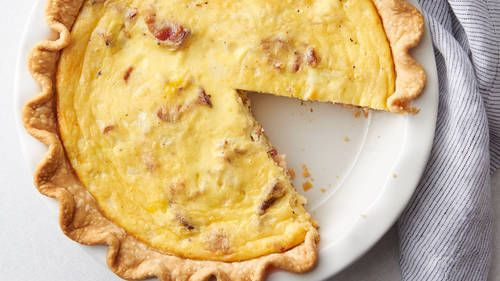 Bacon And Cheese Quiche Recipe In 2020 Bacon And Cheese Quiche Quiche Recipes Bacon Cheese