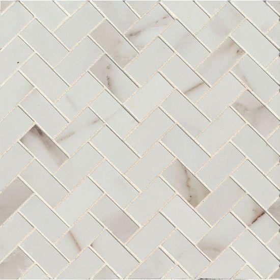 Calacatta 1 X 2 Floor Wall Mosaic By Bedrosian Tile Stone In 2020 Tiles Mosaic Tiles Calacatta