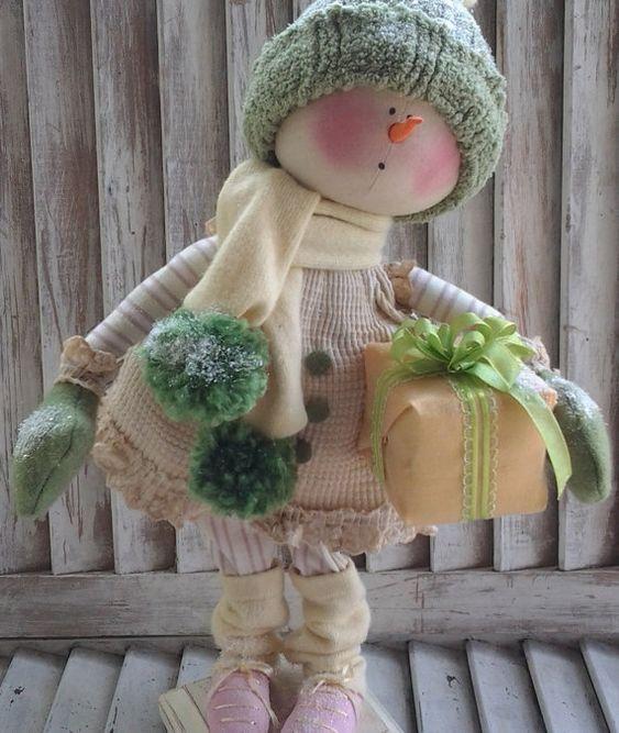 Primitive Pattern Primitive Christmas Snow girl от CCCPrimitives