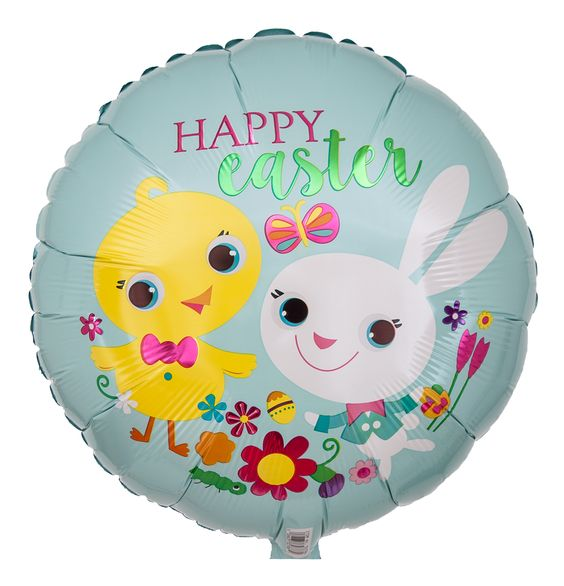 "Runder Folien Luftballon ""Happy Easter"""