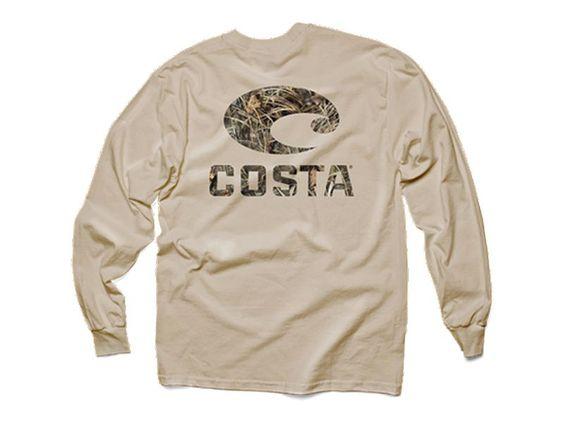 Costa realtree max 4 camo long sleeve shirt melton for Costa fishing shirt