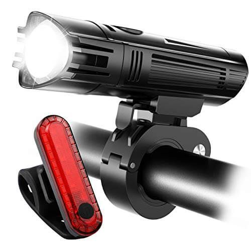 US Super Bright USB Led Bike Bicycle Light Rechargeable Headlight /&Taillight Set