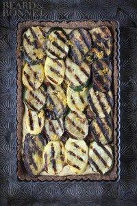 Grilled Vegetable and Hummus Tart (Gluten Free & Vegan) - Beard + Bonnet