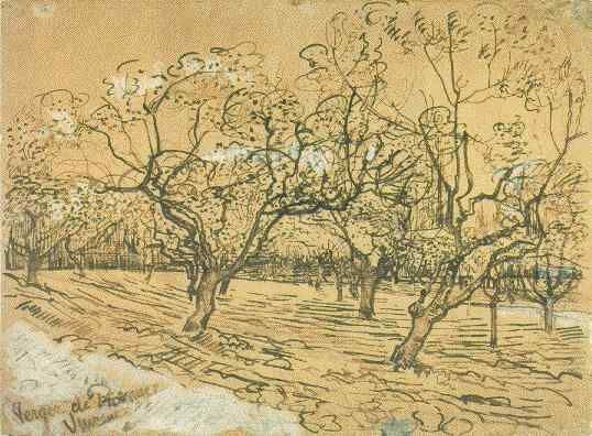 Arles 1888 Orchard with Blossoming Plum Trees Amsterdam Museum