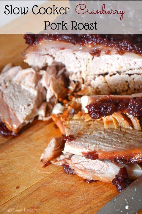 Slow Cooker Cranberry Pork Roast | Recipe | Pork Roast, Pork and ...
