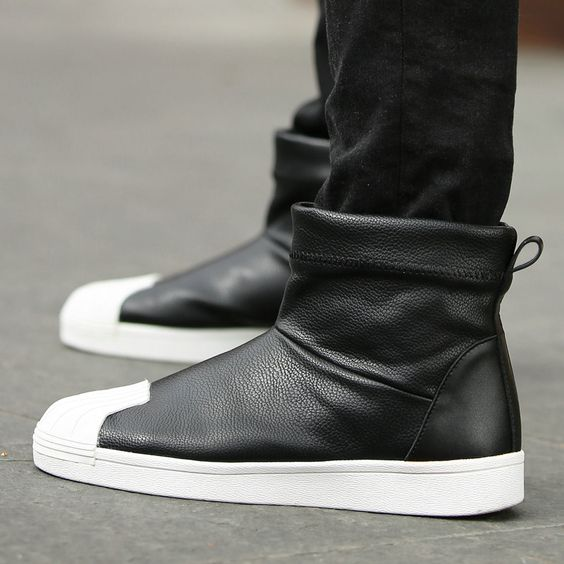 Mens High Top Shoes. Popular Slip On Bota Masculina Designer Boots ...