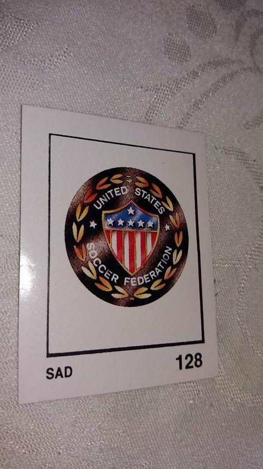 United States Us Soccer Badge Emblem Wappen Scudeto 128 World Cup 1990 Zabavnik Usa Us Soccer Soccer Cards World Cup