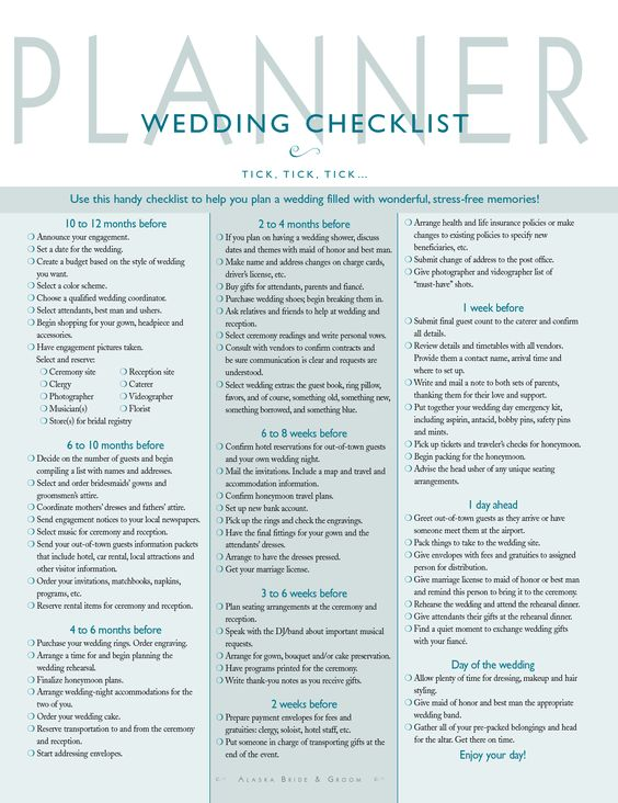 Wedding Organization \/ Planning A Guide for the Unorganized Bride - wedding checklist template
