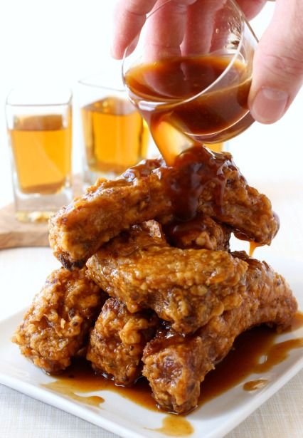 Chicken Fried Whiskey Ribs at your next party - the whiskey glaze ...