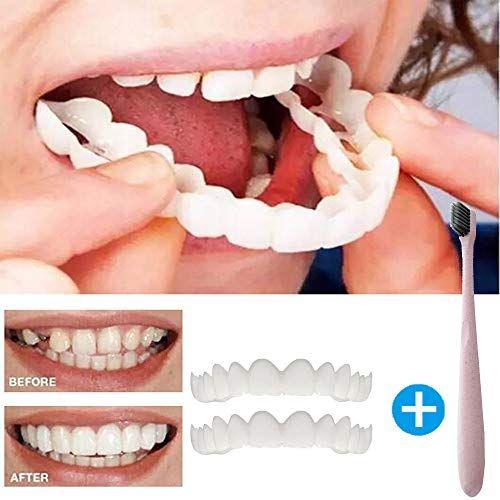 Vibola Teeth By Clearance Cosmetic Teeth Denture Teeth Top Cosmetic Veneer Comfort And Make You Smile 2pcs Set Cosmetic Teeth Veneers Teeth Fake Teeth
