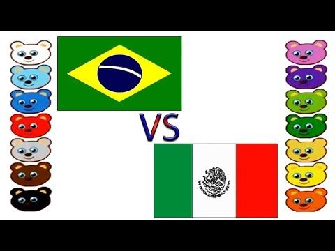 Brazil Vs Mexico Flag Coloring Pages For Kids Raiyantoysmaker