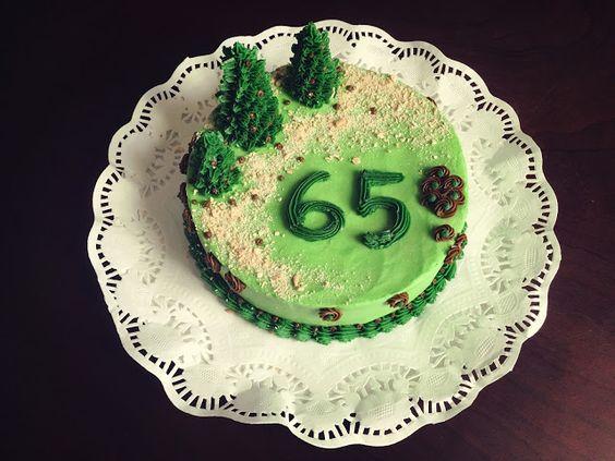 Pine trees Cake