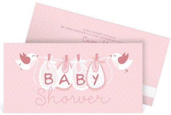 Faire part baby shower rempli de douceur et de tendresse dans l'univers de la layette, ref N13138