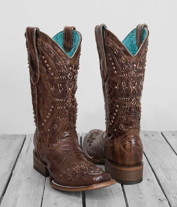 Corral Studded Square Toe Cowboy Boot - Women's Shoes | Buckle ...