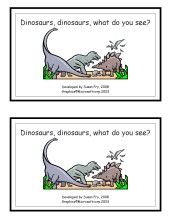 Dinosaur printable book