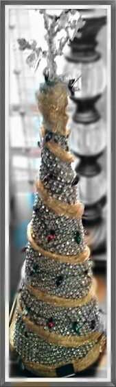 Diamond table Tree.. A girls best friend in the form of  A Christmas decoration