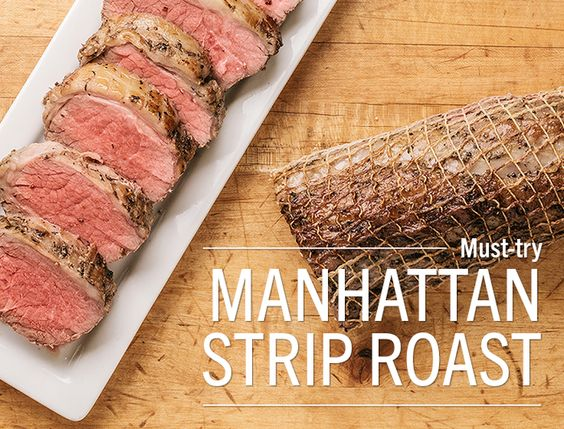 If you like New York strip steak, you'll love the Manhattan Strip Roast.  Perfect for the holidays! #LundsandByerlys