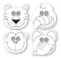 12 dschungel tiere masken dschungel pinterest partys und safari. Black Bedroom Furniture Sets. Home Design Ideas