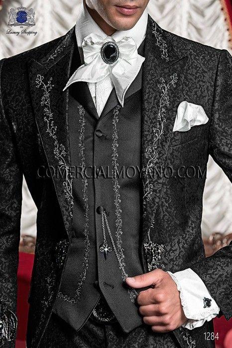 Chemise A Jabot Und Tissu Blanc Concasse Mannliches Parfum Herrenkleidung Modeideen Herren Mode