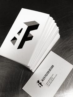 Alex Felter business cards #Identity #branding #businesscards