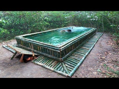Building The Most Beautiful Swimming Pool On The Underground House By Bamboo Youtube Underground Homes Pool Swimming Pools