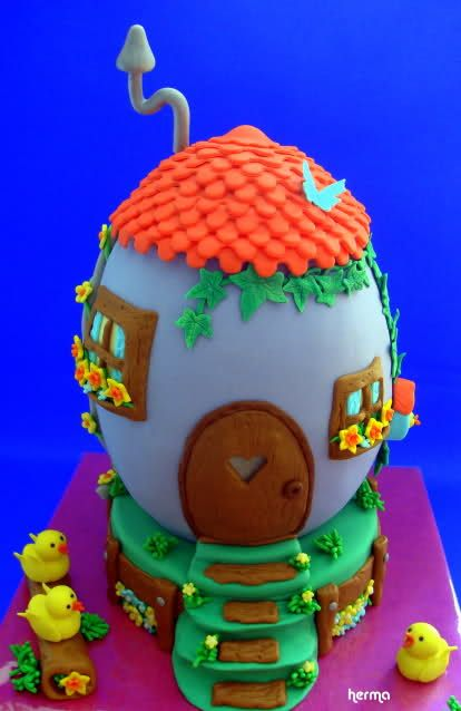 How to make this Easter Egg cake