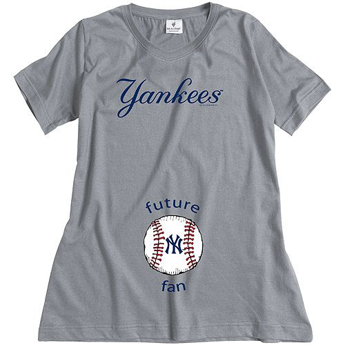 New York Yankees Future Fan Maternity T-shirt by Soft As A Grape - MLB.com Shop