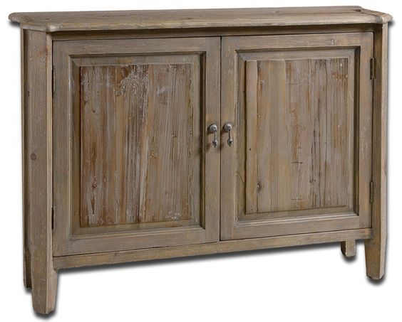 Uttermost 24244 Altair Reclaimed Wood Console Cabinet