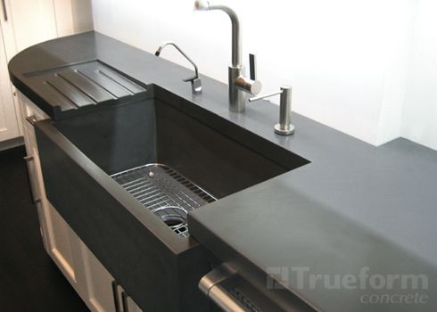 Custom Concrete Countertops Trueform Like. Countertop With Built In Sink
