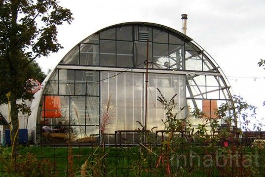 Noorderlicht Cafe in Amsterdam. Built in an old greenhouse in a former shipyard.