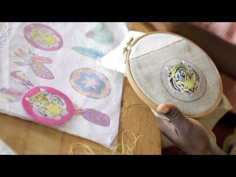P.S.- I made this... Embroidered Patch Collection with @IndegoAfrica #PSxIndegoAfrica #PSIMADETHIS