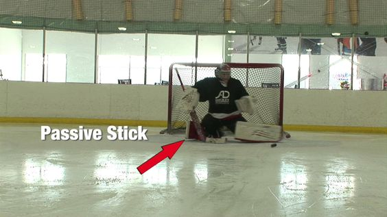 Goalie Drill Video - Active Stick during Buttefly Slide