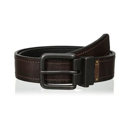 Levi's Men's Reversible Black to Brown Twist Buckle Bridle Belt #Levis