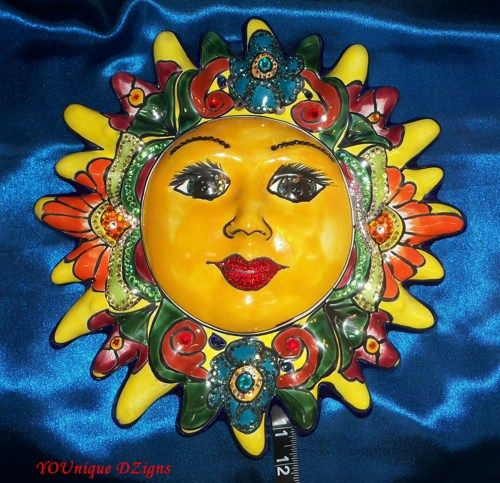 Talavera Sun Face Wall Hanging With Beautiful And Colorful