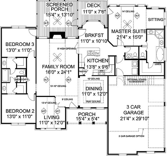 Plan 2022ga Attractive Mid Size Ranch House Plans Jack O 39 Connell And House