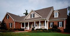 Exterior paint palette for red brick house.                                                                                                                                                     More
