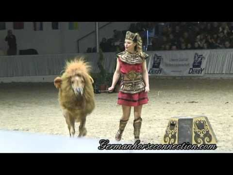Pony dressed as a lion! With tamer Mélie Philippot. AMAZING horsemanship! Not to mention the cutest pony everrrrr.