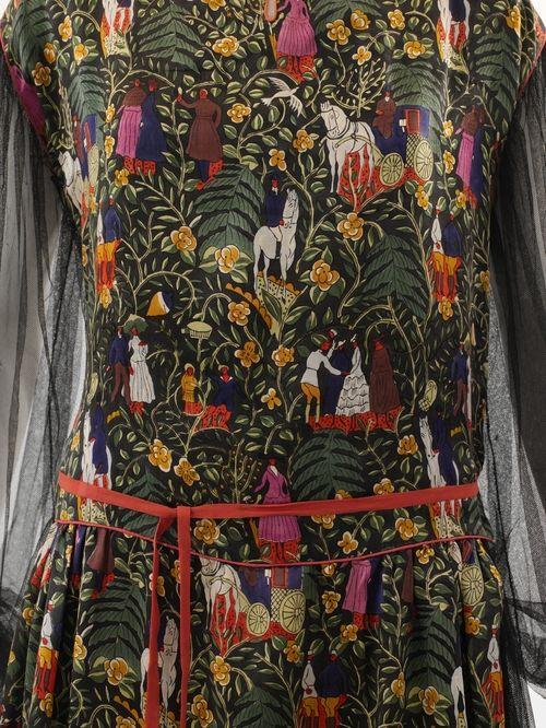 """Paul Poiret """"Bois de Boulogne"""" dress pattern ca. 1919"""